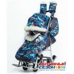 Санки-коляски Pikate Military (Серый)