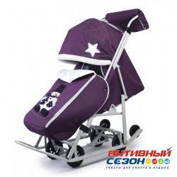 Санки-коляски Pikate Toy (Пурпурный)