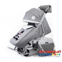 Санки-коляски Pikate Toy (Светло-серый)