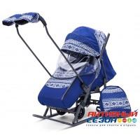 Санки-коляска Pikate Скандинавия (Синий)