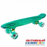 Скейтборд пластиковый Tech Team Transparent light 22 TLS-403 (Цвета в асс.)