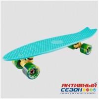 """Скейтборд пластиковый Fishboard 23"""" 2018 (Черный; Белый; Желтый; Оранжевый; Бирюза; Морская волна)"""