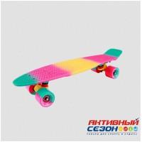 """Скейтборд пластиковый Multicolor 22"""" 2018"""