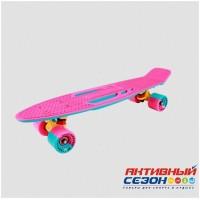 """Скейтборд пластиковый Shark 22"""" 2018 (Красный; Желтый; Зеленый; Сиреневый)"""