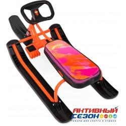 """Снегокат """"Тимка спорт 2"""" (ТС2) Nika kids colors(оранжевый каркас)"""
