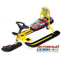 Снегокат «ТИМКА СПОРТ» со спинкой ТС4-1 (Nika Kids F1 (желтый каркас каркас))