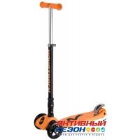 Самокат-кикборд Novatrack RainBow, подростковый, складной, свет. колеса (оранжевый)