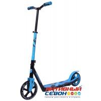 Самокат городской NOVATRACK POLIS колеса 200*180мм (синий)