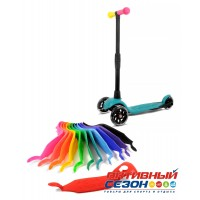Самокат детский трехколесный Buggy Boom Alfa Model с регулируемой складной ручкой, колеса светятся (цвета в асс.)
