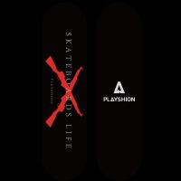 Скейтборд GUN (черный)