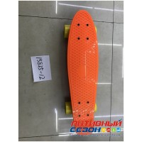 Скейтборд пластиковый, размер доски 56*14 см. колеса PVC без света (цвета в асс.)