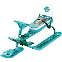 Снегокат «ТИМКА СПОРТ» со спинкой ТС4-1 (Kitty (зеленый каркас))