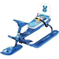 Снегокат «ТИМКА СПОРТ» со спинкой ТС4-1 (Rabbit (синий каркас))