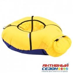 Надувные санки-бубинг, d=100 см, цвет жёлтый