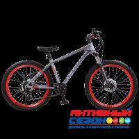 """Велосипед TechTeam Sprint (27.5"""", 8 скор.) (Р-р= 19"""", Цвет: Серый, черный) Рама алюминий"""