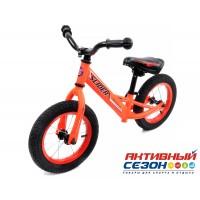 """Велобег 12"""" Slider надувные шины со спицами (матовый оранжевый)"""