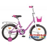 """Детский велосипед Novatrack Maple 16"""" (Сиреневый)"""
