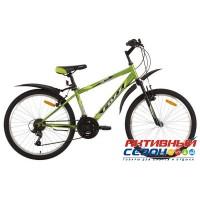 """Велосипед Foxx AZTEC (24"""" 6 скор.) (Р-р = 14"""" Цвет: Синий/Белый; Черный/Зеленый) Рама Сталь"""