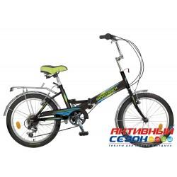 Велосипед Novatrack FS-30 (2018) (20'' 6 скор.) (Цвет: Черный; Синий) Рама Сталь