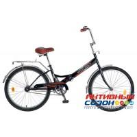 Велосипед складной Novatrack FS-24 (24'' 1 скор.) (Цвет: Красный; Синий; Черный; Белый) Рама Сталь