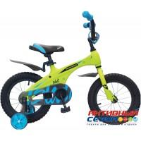 """Детский велосипед Novatrack Blast 14"""" (Оранжевый неон; Зеленый неон) Рама Алюминий"""
