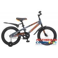 """Детский велосипед Novatrack Juster 16"""" (Оранжевый; Черный)"""