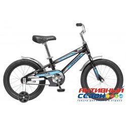 """Детский велосипед Novatrack Dodger 16"""" (Черный) Рама Алюминий"""