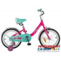 """Детский велосипед Novatrack Ancona 16"""" (Розовый) Рама Алюминий"""