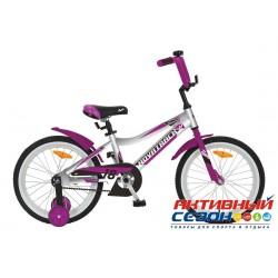 """Детский велосипед Novatrack Novara 18"""" (Серебристый; Розовый; Белый) Рама Алюминий"""