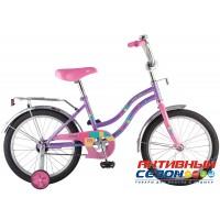 """Велосипед Novatrack Tetris 20"""" (Белый; Фиолетовый)"""