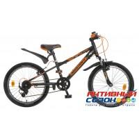 """Велосипед Novatrack Extreme (20"""" 7 скор.) (Цвет: Черный/Оранжевый) Рама Алюминий"""