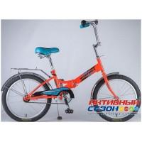 Велосипед складной Novatrack FS-20 (20'' 1 скор.) (Цвет: Салатовый; Оранжевый) Рама Сталь