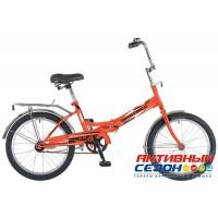 Велосипед складной Novatrack FS-30 (20'' 1 скор.) (Цвет: Синий; Оранжевый) Рама Сталь