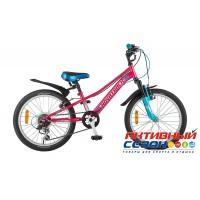 "Велосипед Novatrack Valiant (20"" 6 скор.) (Цвет: Коралловый) Рама Алюминий"