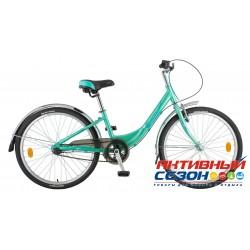 """Велосипед Novatrack Ancona (24"""" 3 скор.) (Р-р = 12""""; Цвет: Зеленый) Рама Алюминий"""