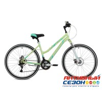 "Велосипед Stinger Latina D (26"" 18 скор.) (Р-р = 17""; Цвет: Серый; Зеленый) Рама Сталь"