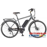 "Электровелосипед Stinger Gent (28"" 8 скор.) (Р-р = 20""; Цвет: темно-серый) Рама Алюминий"