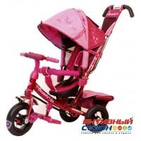 """Трехколесный велосипед Trike Beauty надувные колеса 10"""" и 8"""" (розовый)"""