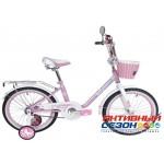 """Детский велосипед Black Aqua Princess 20"""" со светящимися колесами (розово-сиреневый; розовый-белый)"""