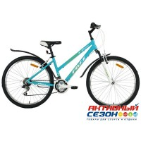"Велосипед FOXX BIANKA (26"" 18 скор.) (Р-р = 17""; Цвет: зелен./белый)"