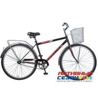"""Велосипед Stels Navigator 350 (Z010) 28"""" (Р - р = 20""""; Цвет: Бежевый/коричневый; Слоновая-кость)+Корзина"""