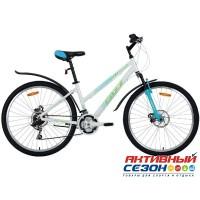 """Велосипед FOXX BIANKA (26"""" 18 скор.) (Р-р = 17""""; Цвет: бел./зелен.)"""