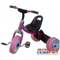 Трехколесный велосипед Kinder светящиеся колеса (розовый)