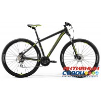 "Merida Big.Nine 20-D (2018) (29"" 24 скор.) (Р-р = 19; 21; Цвет: MattBlack/Green) Рама Алюминий"