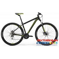 "Merida Big.Nine 20-MD (2018) (29"" 24 скор.) (Р-р = 19; 21; Цвет: MattBlack/Green) Рама Алюминий"