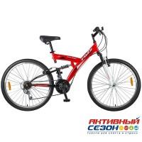 """Велосипед Mikado Explorer (26"""" 18 скор.) (Цвет: красный/белый) Рама Сталь"""