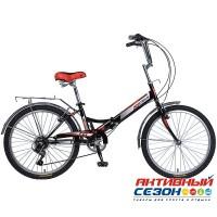 Велосипед складной Novatrack (24'' 6 скор.) (Цвет: Черный)