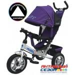Трехколесный велосипед PILOT надувные колеса 12' и 10' (Фиолетовый (PTA3V))