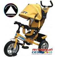 Трехколесный велосипед PILOT надувные колеса 12' и 10' (Желтый (PTA3Y))