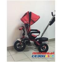 """Трехколесный велосипед SAFARI TRIKE, поворотное сидение, свободный ход колеса, надувные колеса 12"""" и 10"""" (красный)"""